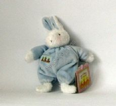 SWEET HOPS blue bunny rattle, from BUNNIES BY THE BAY.